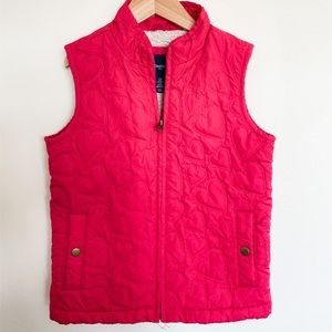 GAP Kids Girls Pink Heart Embroidered Vest M(8-9)